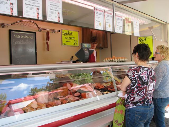 Metzgerei Gemein auf dem Wochenmarkt in Bad Bodendorf